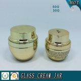 choc cosmétique en verre de galvanoplastie d'or de 50g 30g