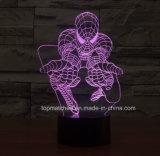 De nieuwe Decoratieve LEIDENE Spiderman 3D Lichten van de Nacht