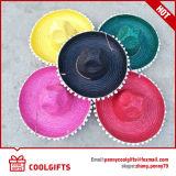 Sombrero de paja rayado del sombrero de la venta caliente para el regalo promocional