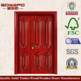 Porte en bois en partie double inégale des meilleurs prix de la Chine (GSP1-011)