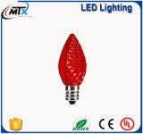 La cadena del LED enciende las luces al aire libre C7C9 del partido/de la Navidad del árbol LED