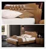 Foshan 침실 가구 현대 특대 니스 가죽 연약한 침대