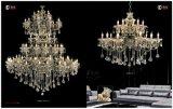 De Lichten van de Kroonluchter van het Kristal van het Project van het Hotel van het anti-Messing van de luxe