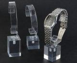Carrinho acrílico desobstruído novo da exposição do montante do relógio dos carrinhos de indicador do relógio
