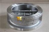 Задерживающий клапан плиты вафли нержавеющей стали двойной (H77X-10/16)