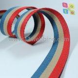 Webbing binário do algodão da cor para a cinta de ombro dos acessórios do saco