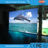 Visualización de LED al aire libre P4.81 de la consumición de las energías bajas