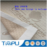 Tessuto di ticchettio del cotone del poliestere del materasso organico della gomma piuma per il materasso del lattice