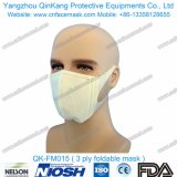 Masque protecteur non-tissé remplaçable de respirateur de 1 pli pour l'hôpital Qk-FM013