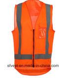 De oranje Norm van het Vest AS/NZS 4602 van de Veiligheid Weerspiegelende met Achter Langere Lengte
