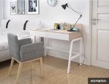 Mesa de estudo simples e moderna para estudantes com mesa de laptop de madeira larga no quarto do escritório