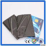 Faca de acampamento Pocket da caça/sobrevivência da faca do cartão do aço inoxidável do mini crédito portátil (SYSG-284)