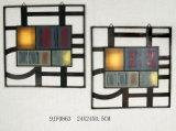 Conjunto de chapa de parede de metal prateado Competivve quente