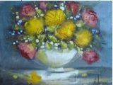 Pittura a olio del fiore (SFP09267)