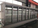 Refrigerador vertical de la visualización del alimento congelado del refrigerador de la tienda de comestibles
