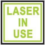 Signe en service de laser de méthode de commutateur de DEL