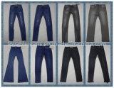 8.7oz color negro oscuro pantalones vaqueros de las señoras de la MID (Wash) HY2536T
