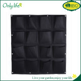 Onlylife 16 Pocket Planter on Wall Gardening Plant Verde Grow Container Bags Pendurado Vertical Felt Flower Pots