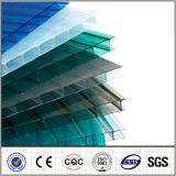 Hoja de la PC de la depresión del policarbonato de la Gemelo-Pared de China Manufaturer para el material para techos