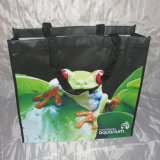 Sacchetto di mano d'acquisto non tessuto riciclato ambientale (LJ-53)