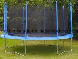 Trampoline redondo ao ar livre de 14FT cabido na jarda para idades