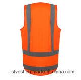 Estándar reflexivo del chaleco AS/NZS 4602 de la seguridad anaranjada con la longitud posterior más larga