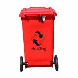 pattumiera di gomma di plastica della rotella dello scomparto di rifiuti 100L per esterno