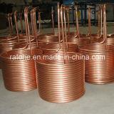 Câmara de ar de cobre da bobina sem emenda da panqueca para o condicionador de ar