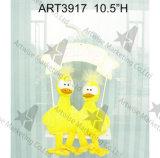 """3.5 """" Hx5 """" L decoração Bird-4asst. de Easter da tela"""