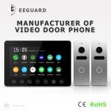 Memória 7 polegadas de telefone video da porta de Bell de porta da segurança Home do intercomunicador