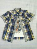 スクエア6246方法男の子のワイシャツの普及した子供の衣服