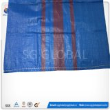 중국 파란 50kg PP에 의하여 길쌈되는 비닐 봉투