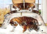 Preiswerte gedruckte Baumwollbettwäsche-gesetzte verschiedene Tierentwürfe (Tiger, Löwe)