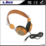 木製パターンステレオ騒音取り消すヘッドホーン