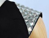 Лето черных платьев женщин одежды оптовой продажи конструкции платья новое с застежкой -молнией
