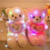 Weihnachtsgeschenk passte weißen LED angefüllten Plüsch-Teddybären an