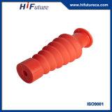 Fiche protectrice de silicones d'isolation électrique rouge en caoutchouc