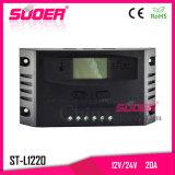 Suoer 12V 24V 20A 수동 태양 책임 관제사 PWM 태양 관제사