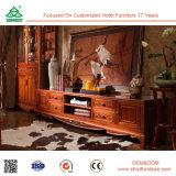 Wohnzimmer-Möbel-Abbildung-neues Modell-Entwurf hölzerner Fernsehapparat-Tisch mit Schaukasten