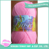 Fio tricotando manualmente puro básico de lãs acrílicas extravagantes de Brisa