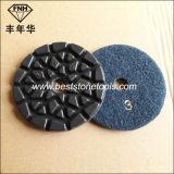 Résine meulant le diamant en pierre concret de main d'étage polissant l'outil abrasif