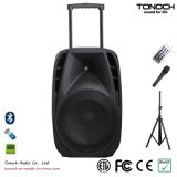 BatteryのOEM 15 Inches Plastic Trolley DJ Speaker
