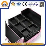 분홍색 손질 알루미늄 장식용 저장 상자 (HB-3182)