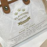 Quatro cores Waterproof a bolsa lavada do saco de ombro do quadrado do papel de embalagem (A086)