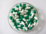 Szie FDA를 통과하는 4개의 녹색 백색 색깔 빈 젤라틴 단단한 캡슐