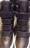 Zapatos de las mujeres del talón de la cuesta de la manera con la cinta mágica (HS8-7)