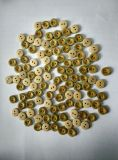 11.25mm Bamboo Button com laser Drawing Natural Button de Especial