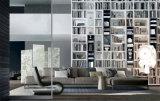 Stile L sofà dell'annata del tessuto di figura impostato per uso domestico (FS-009)