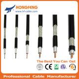 75 câble coaxial de liaison extérieur de la télécommunication CATV rf Rg11 d'ohm