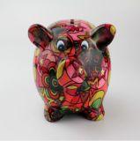 Banco de moeda cerâmico do porco relativo à promoção da fonte da fábrica